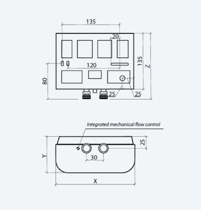 Thermex THETREN6000 Elektrischer Durchlauferhitzer Trend 6000 230 V Wei/ß